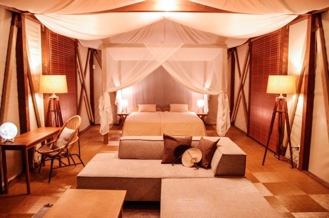 国内でも珍しいテントも。国内最大級を誇る「グランピングヴィレッジHAJIME」