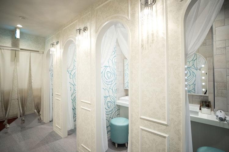 女性専用フロアに設けられた使いやすい大浴場