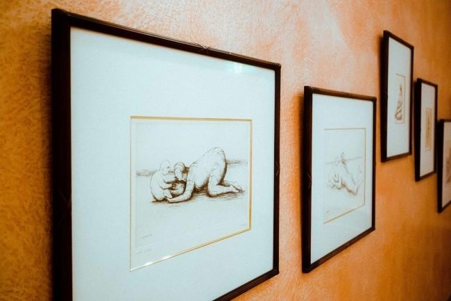 ヘンリームーアの「母と子」は常設展示