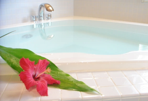 貸切風呂でリフレッシュ