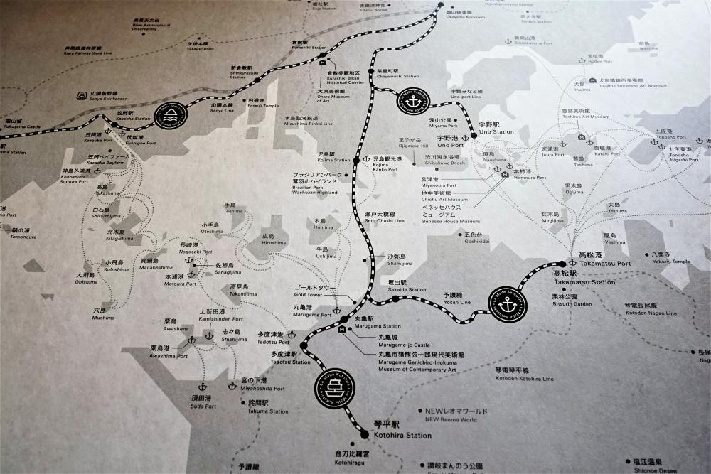 ポイント① 「芸術・自転車・こんぴら参り」旅の目的を明確にしてコース選び!