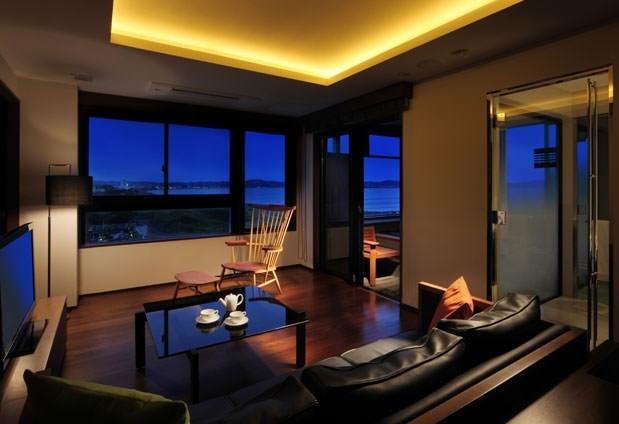 贅沢な空間と景色を用意した「スタイリッシュスイート」