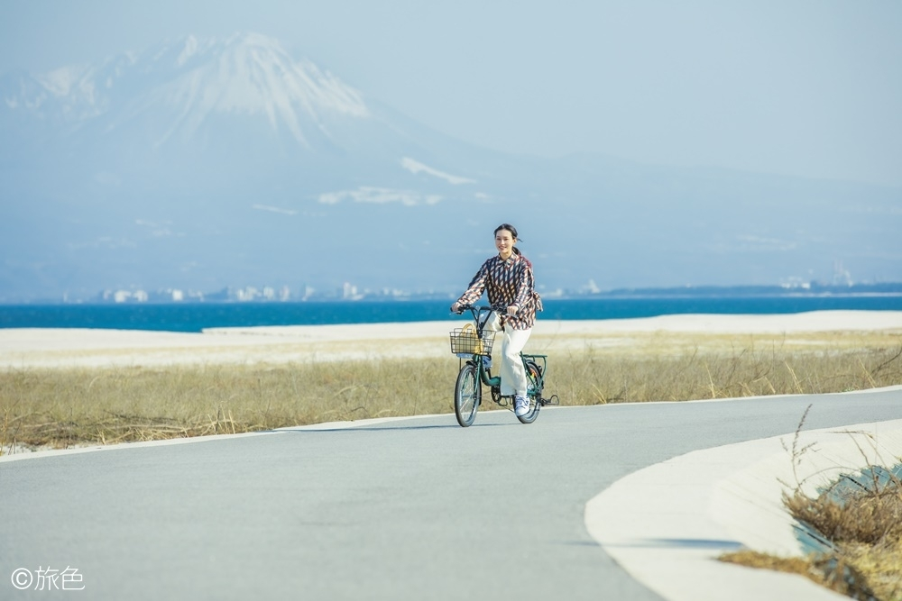 美保湾と雄大な大山を堪能しながらサイクリング