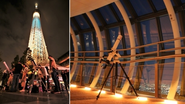 天体望遠鏡を使った本格仕様の名月鑑賞会