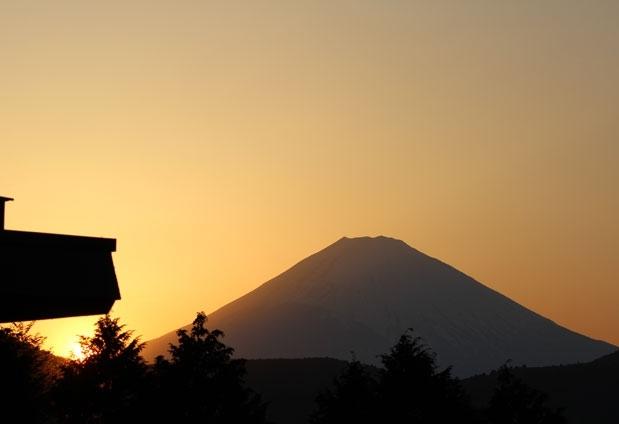 富士山を眺められる宿