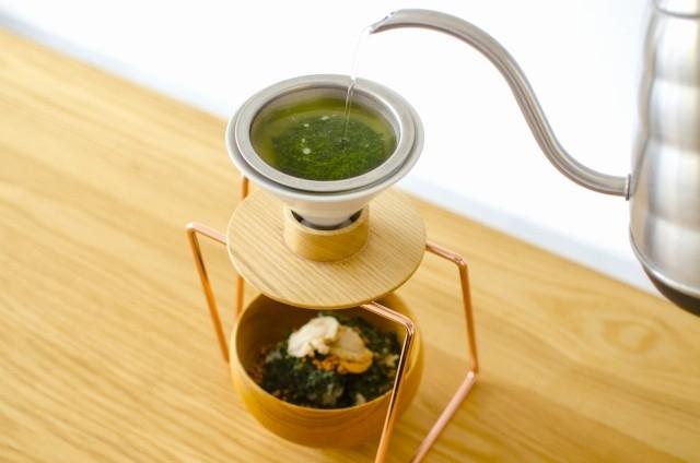 「ハンドドリップ日本茶」を追加注文でお茶の風味を2倍に!