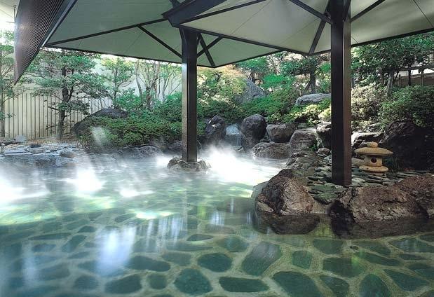 山梨県・石和温泉の宿「ホテルふじ」の魅力②多彩な大浴場