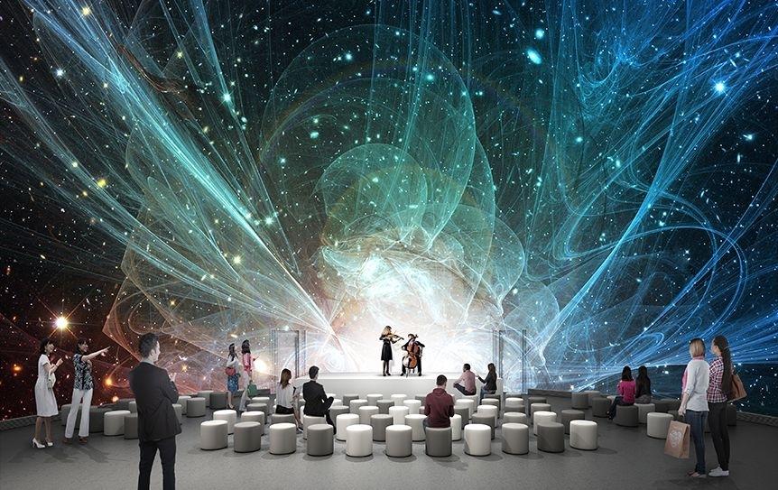 高解像度ドーム映像が楽しめる多目的ドームシアター
