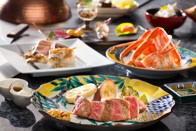 加賀の山海の幸を味わえる「鉄板会席ディナー」