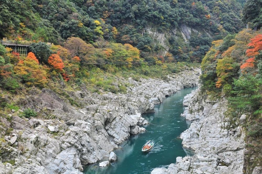 ダイナミックな渓谷美を楽しむ「大歩危峡観光遊覧船」(三好市)