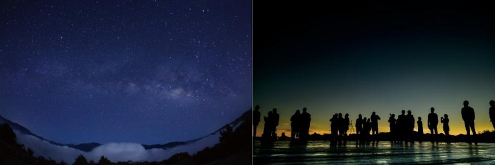 満点の星空、朝焼け、日の出、早朝の山景……何もかもが幻想的!