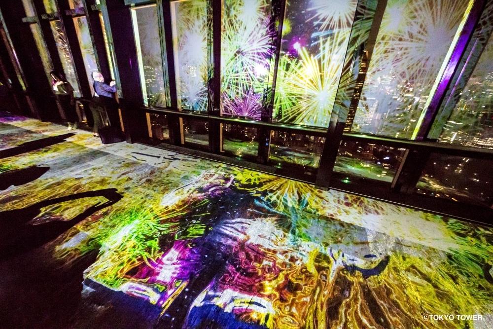 9月17日まで!「東京タワー」でネイキッドが手掛ける新しい夜景×花火体験をその1