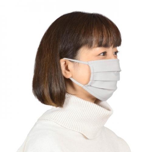 起毛素材で着け心地快適「洗えマスク(R)」