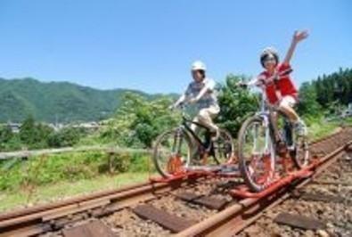 マウンテンバイク+鉄道レール