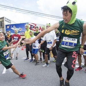 筑波山でカエルだらけのマラソン大会「がまレース」開催