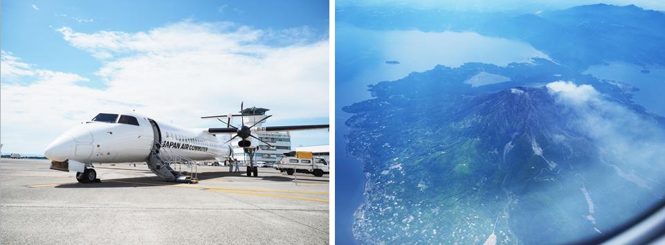 空から海から、屋久島への道中も絶景!
